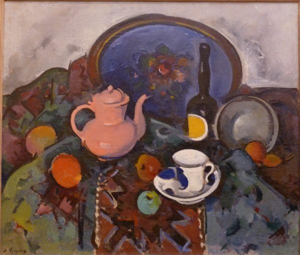 Александр Куприн. Натюрморт с розовым чайником. 1921