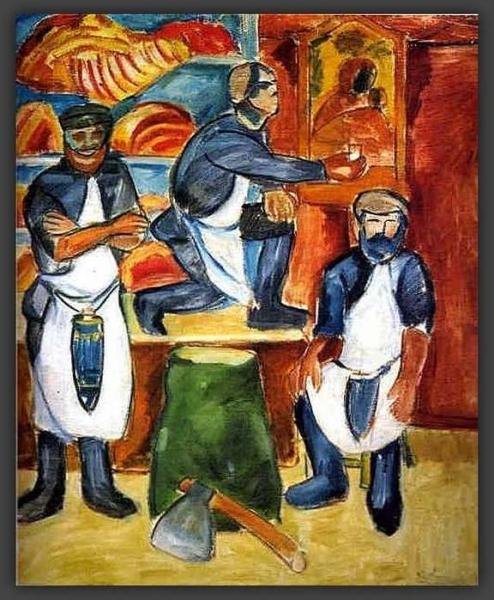 Алексей Моргунов. Мясная лавка. 1911