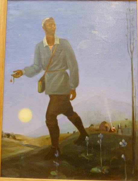 Алексей Подковыров. Голубой вечер в горах. Автопортрет. 1935