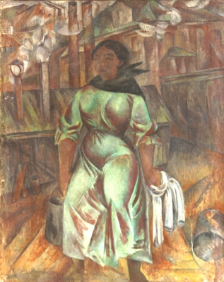 Александр Шевченко. Баба с ведрами. 1913