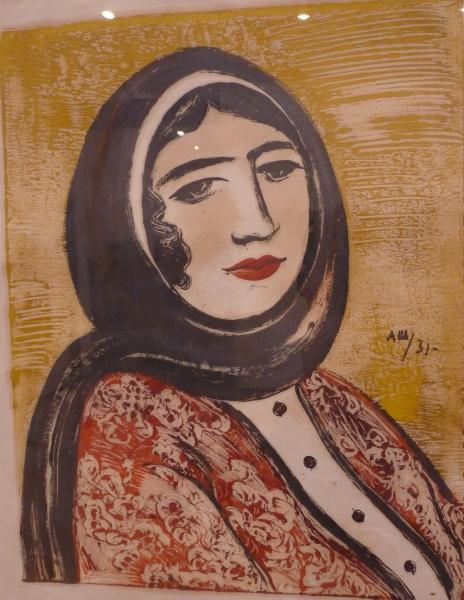 Александр Шевченко. Дагестанка в черном платке. 1931