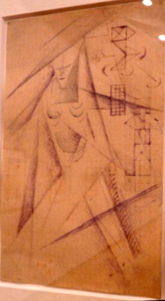 Петр Соколов. Строитель. Эскиз. 1922