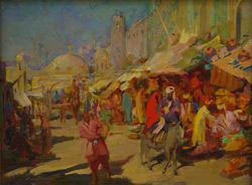 Оганес Татевосян. Фруктовые палатки
